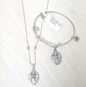 """ALEX AND ANI CRYSTAL """"DOVE"""" SET & RING AS  GIFT!!"""